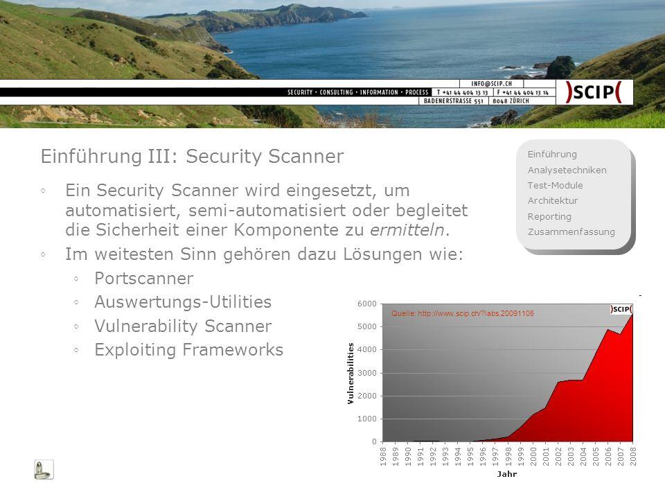 Einführung III: Security Scanner