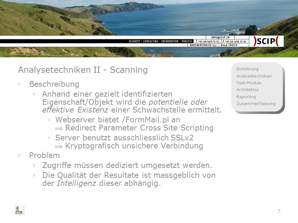 Analysetechniken II - Scanning