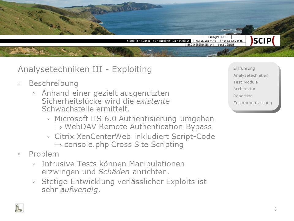 Analysetechniken III - Exploiting