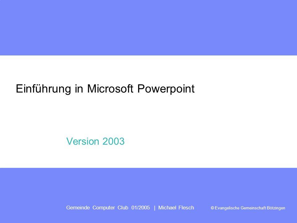 Einführung in Microsoft Powerpoint