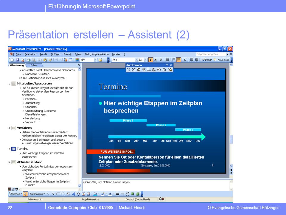 Präsentation erstellen – Assistent (2)
