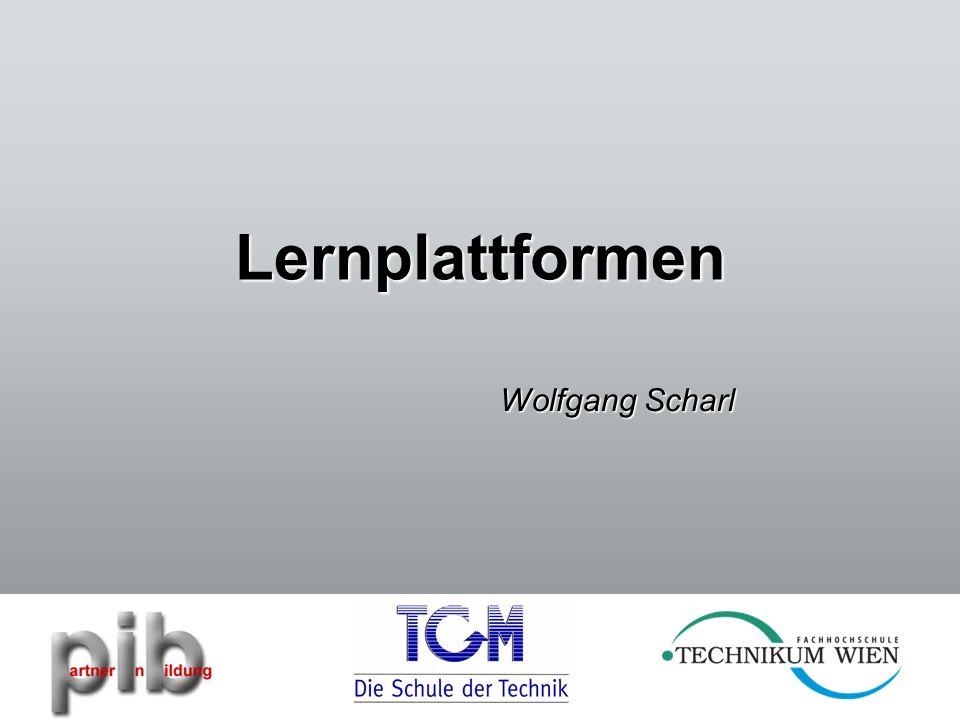 Lernplattformen Wolfgang Scharl