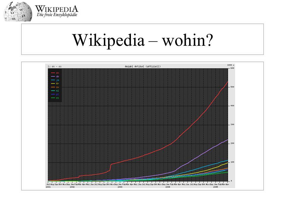 Wikipedia – wohin