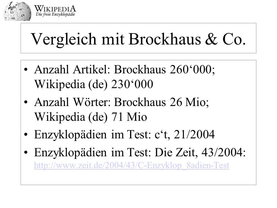 Vergleich mit Brockhaus & Co.