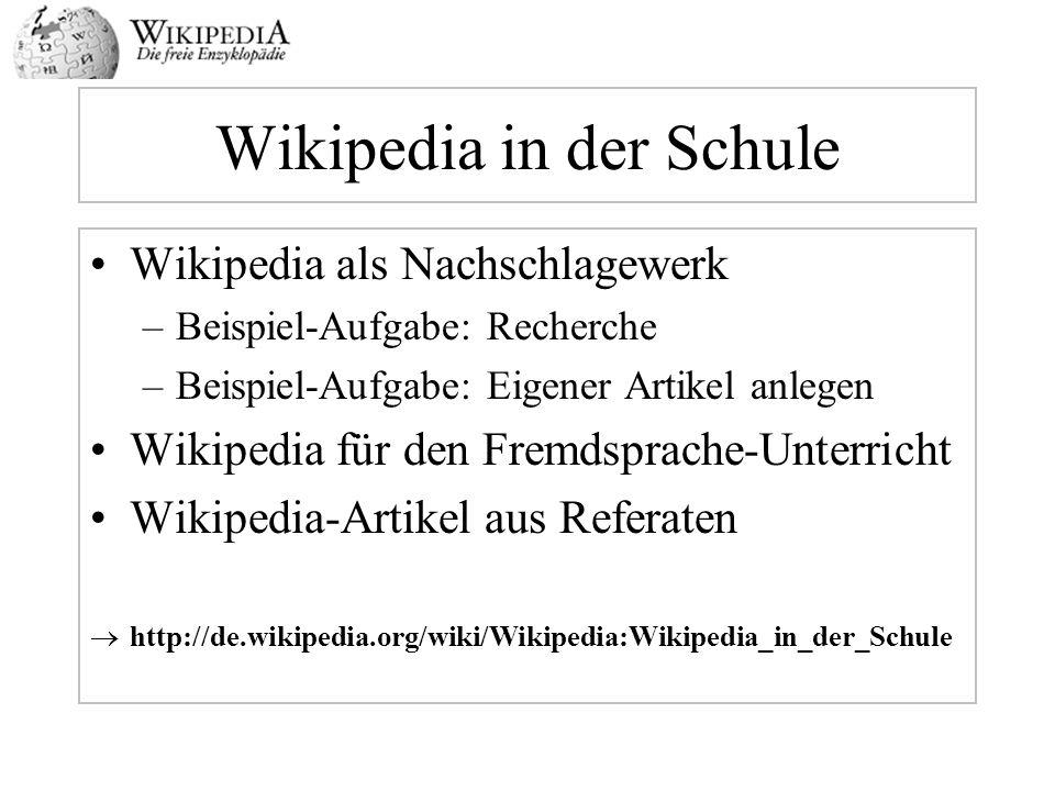 Wikipedia in der Schule