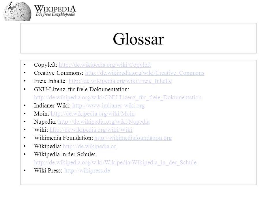 Glossar Copyleft: http://de.wikipedia.org/wiki/Copyleft