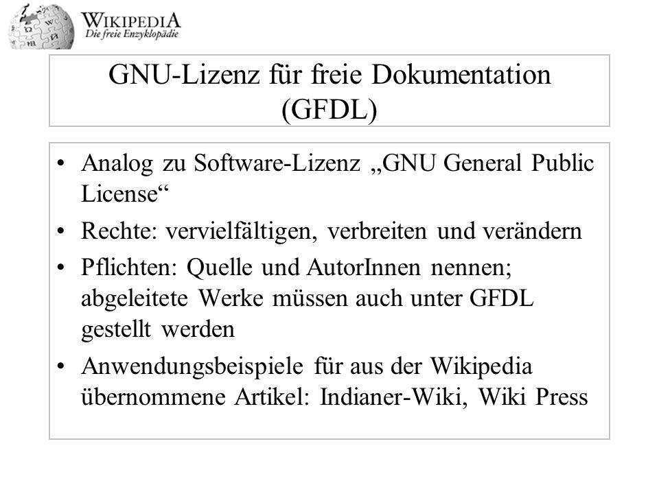 GNU-Lizenz für freie Dokumentation (GFDL)