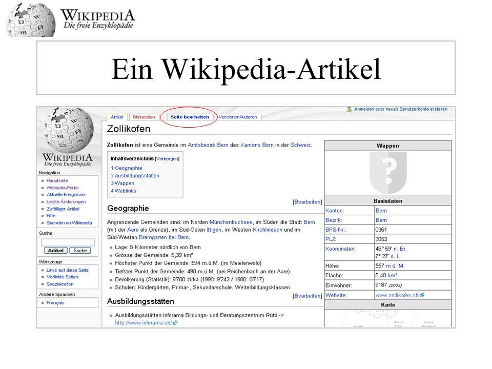 Ein Wikipedia-Artikel