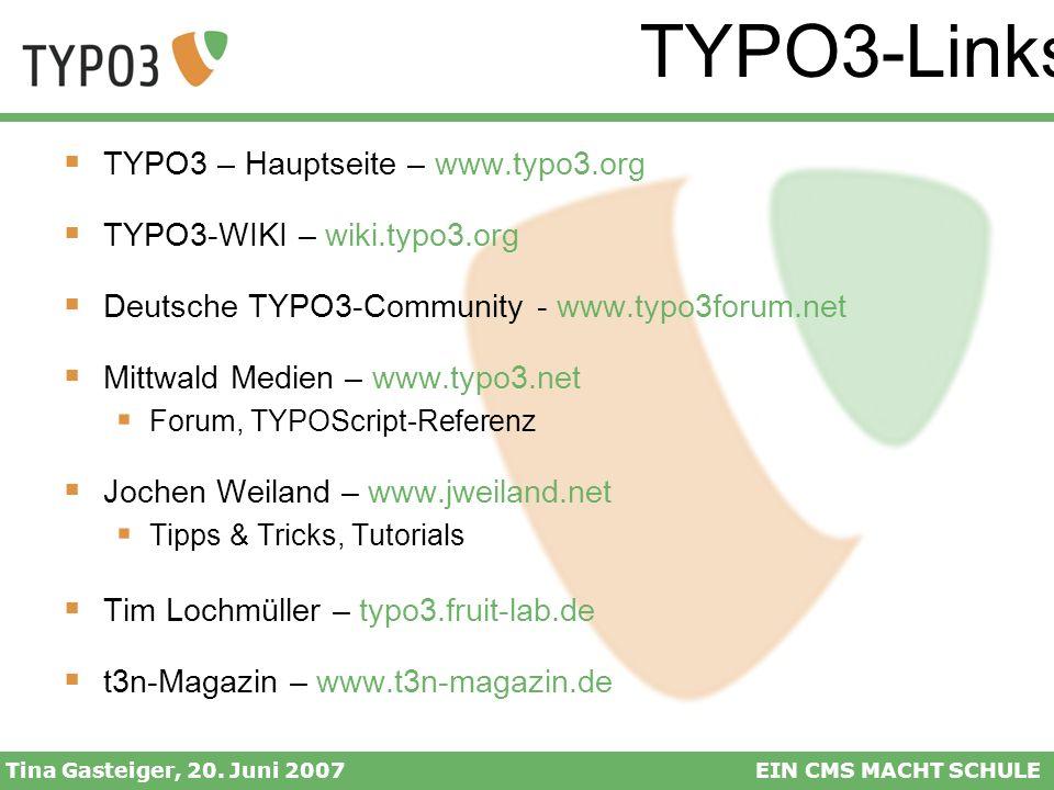 TYPO3-Links TYPO3 – Hauptseite – www.typo3.org