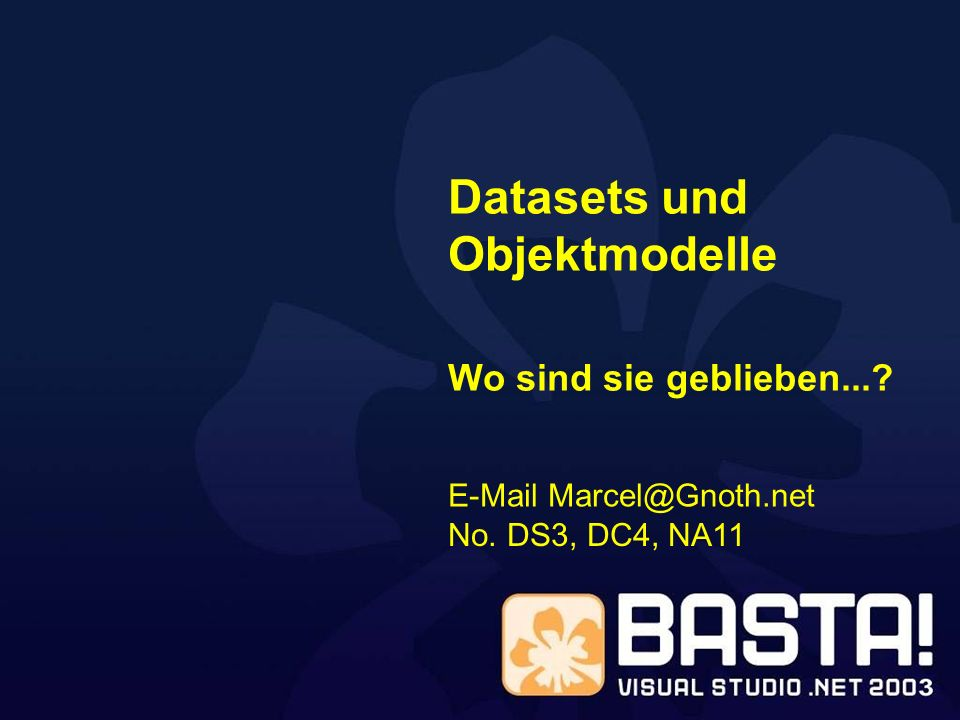 Datasets und Objektmodelle