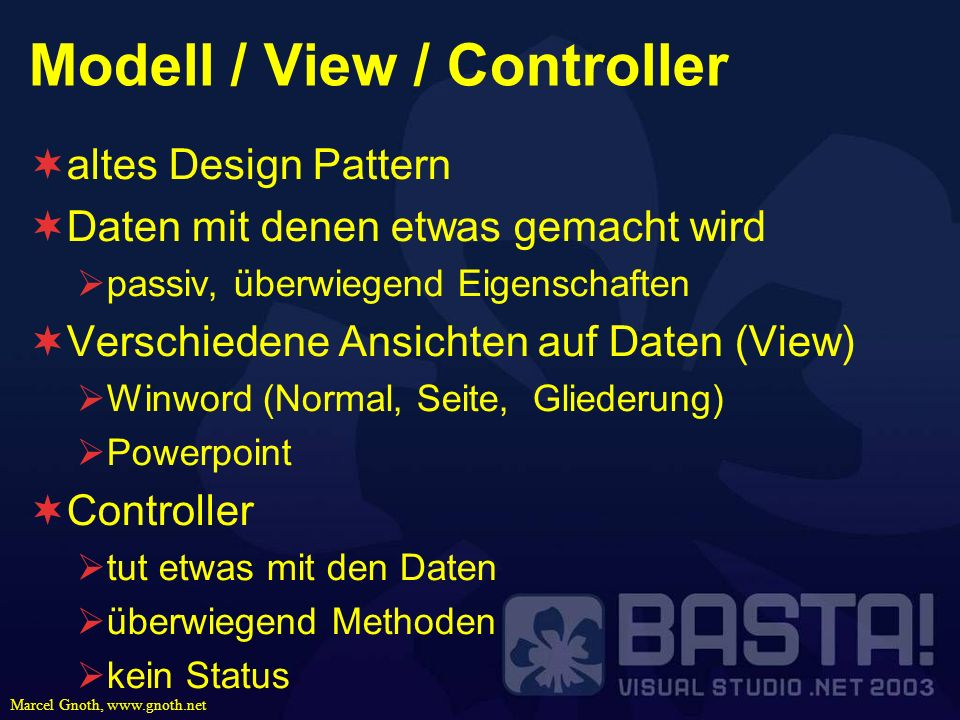 Modell / View / Controller