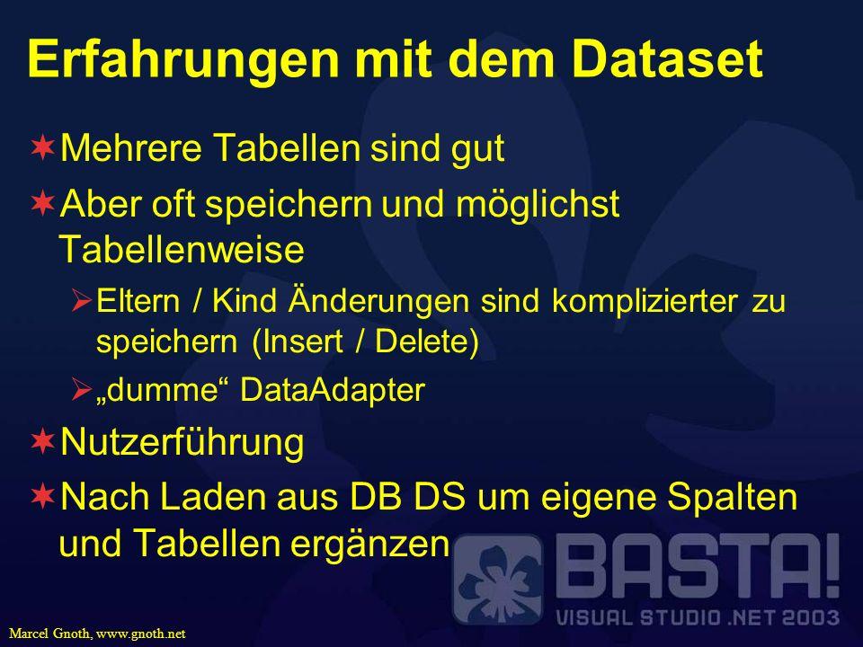Erfahrungen mit dem Dataset
