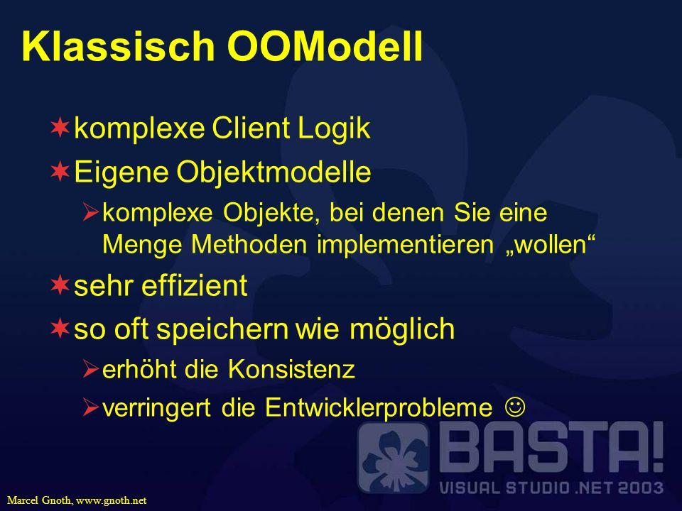 Klassisch OOModell komplexe Client Logik Eigene Objektmodelle