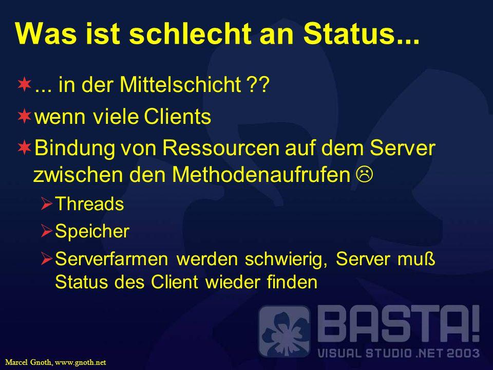 Was ist schlecht an Status...