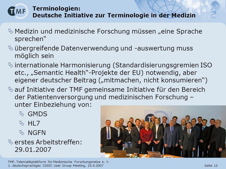 Terminologien: Deutsche Initiative zur Terminologie in der Medizin