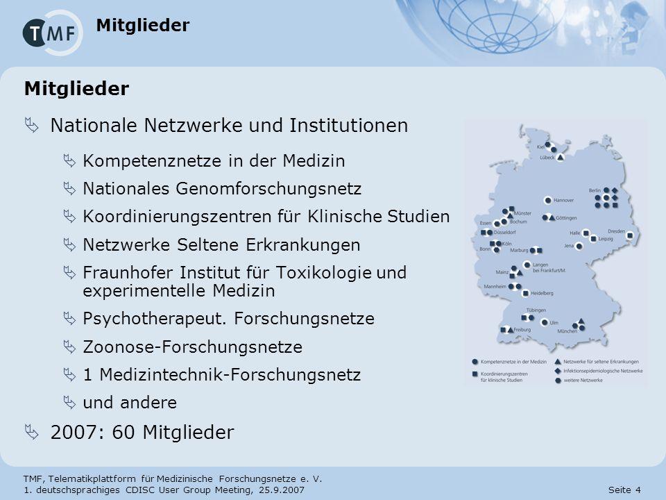Nationale Netzwerke und Institutionen