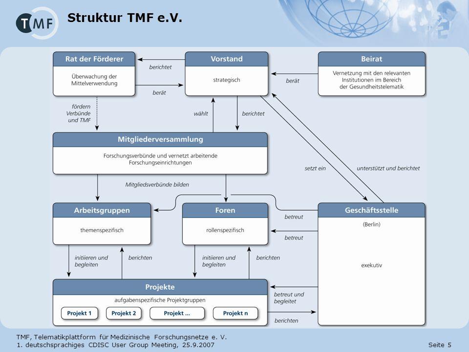 Struktur TMF e.V.