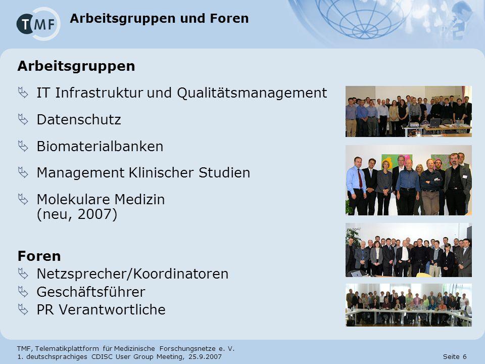Arbeitsgruppen und Foren