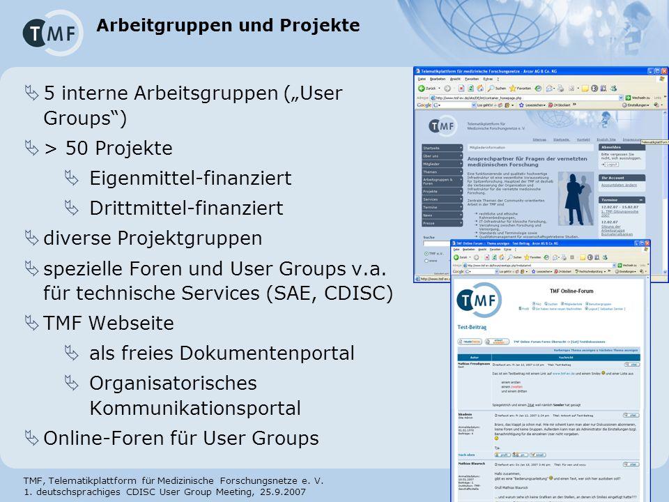 Arbeitgruppen und Projekte