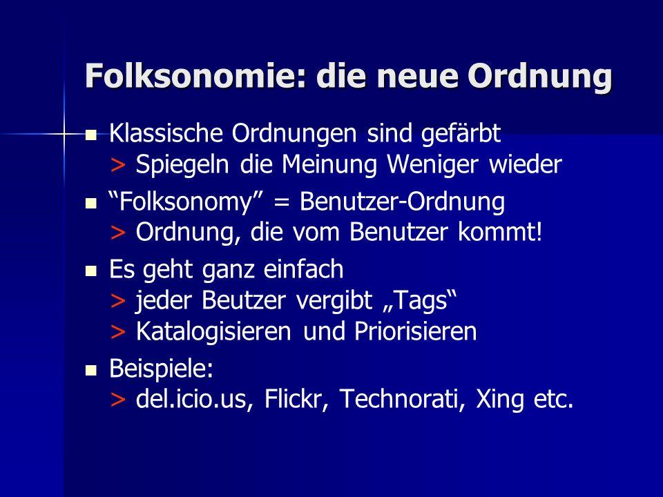 Folksonomie: die neue Ordnung