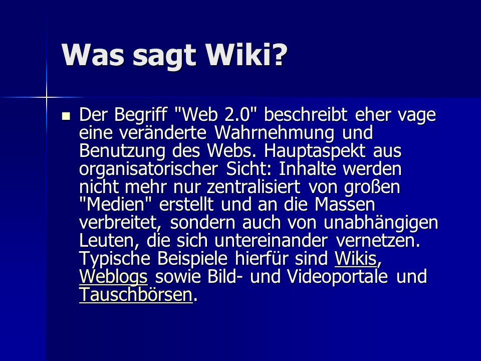 Was sagt Wiki
