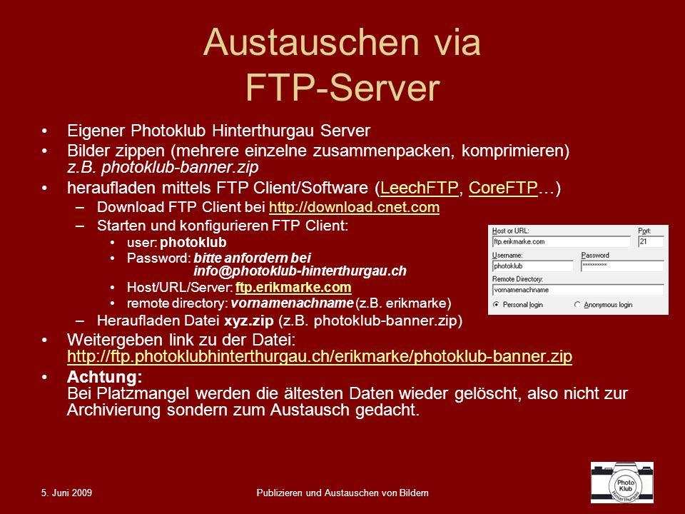 Austauschen via FTP-Server