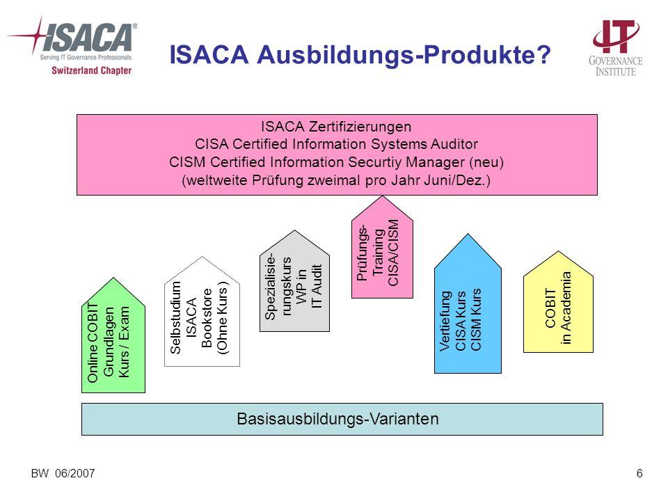 ISACA Ausbildungs-Produkte