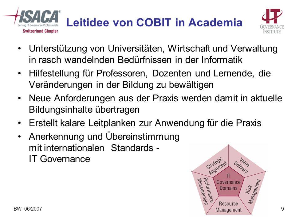 Leitidee von COBIT in Academia