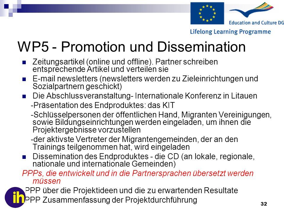 WP5 - Promotion und Dissemination