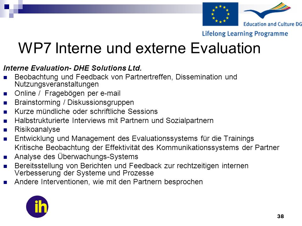 WP7 Interne und externe Evaluation