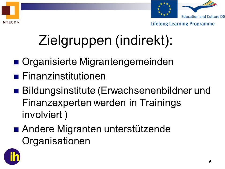 Zielgruppen (indirekt):
