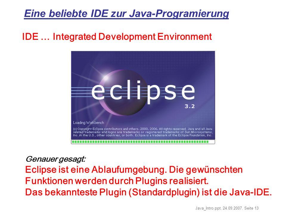 Eine beliebte IDE zur Java-Programierung