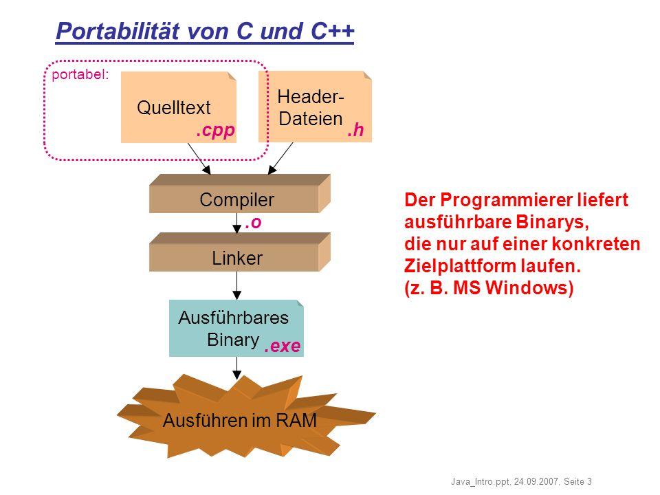 Portabilität von C und C++