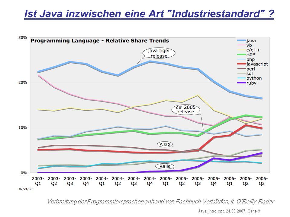 Ist Java inzwischen eine Art Industriestandard