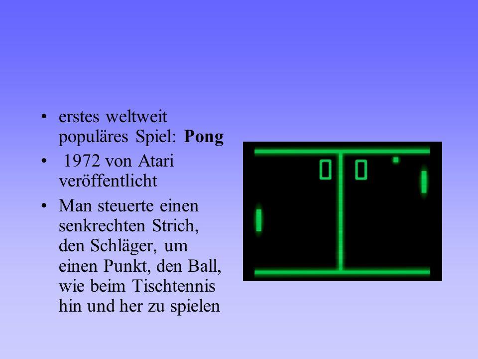 erstes weltweit populäres Spiel: Pong