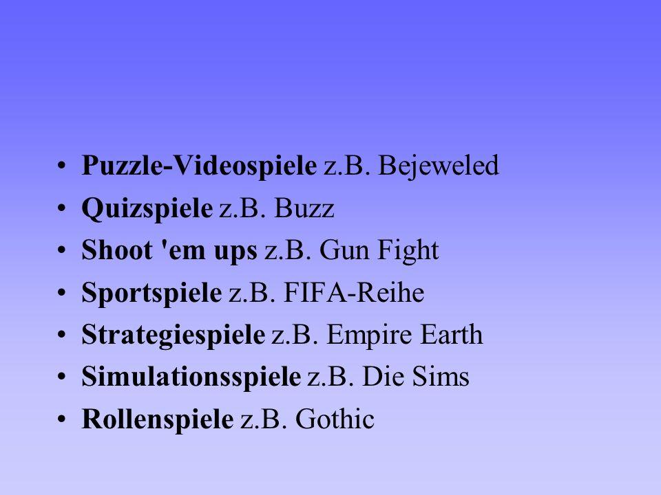 Puzzle-Videospiele z.B. Bejeweled