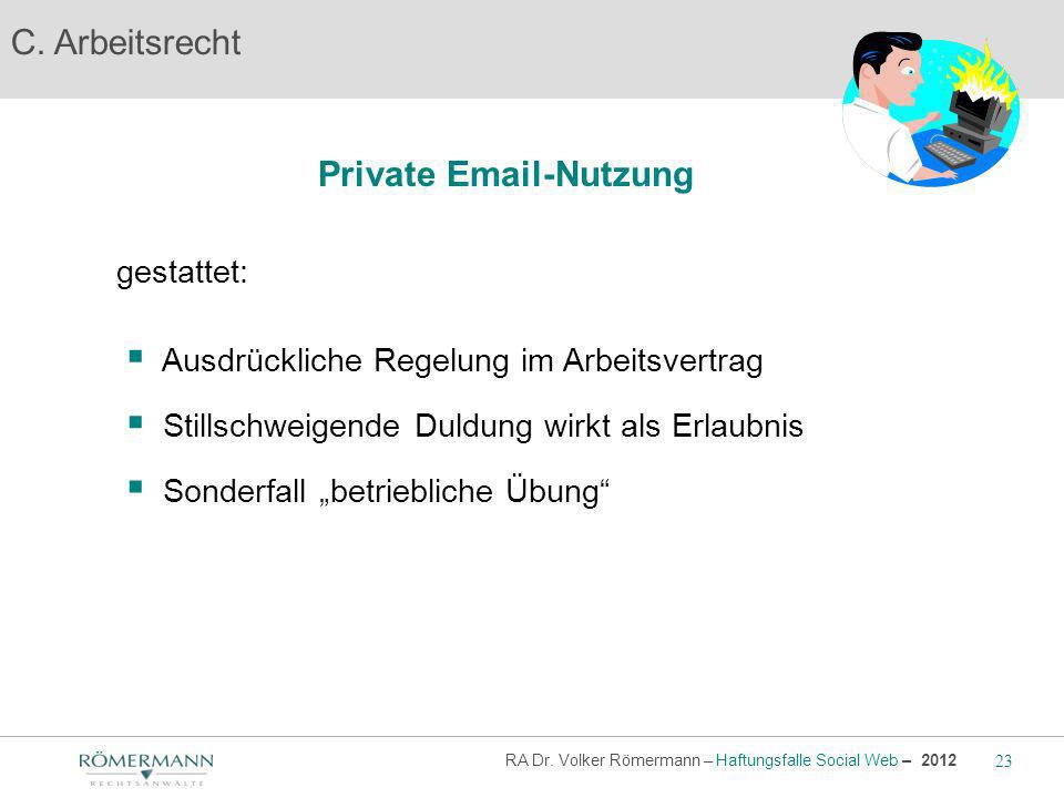 Private Email-Nutzung