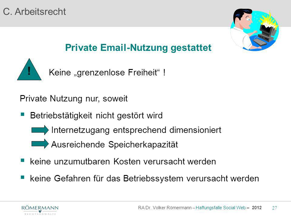 Private Email-Nutzung gestattet