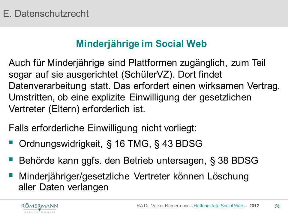 Minderjährige im Social Web