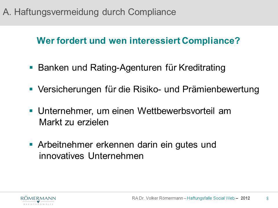 Wer fordert und wen interessiert Compliance