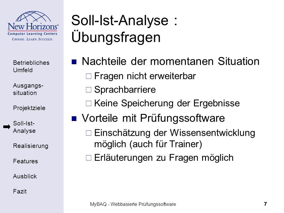 Soll-Ist-Analyse : Übungsfragen