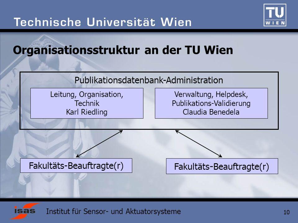 Organisationsstruktur an der TU Wien