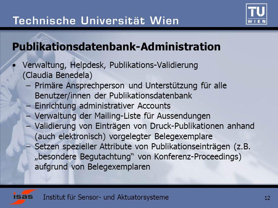 Publikationsdatenbank-Administration