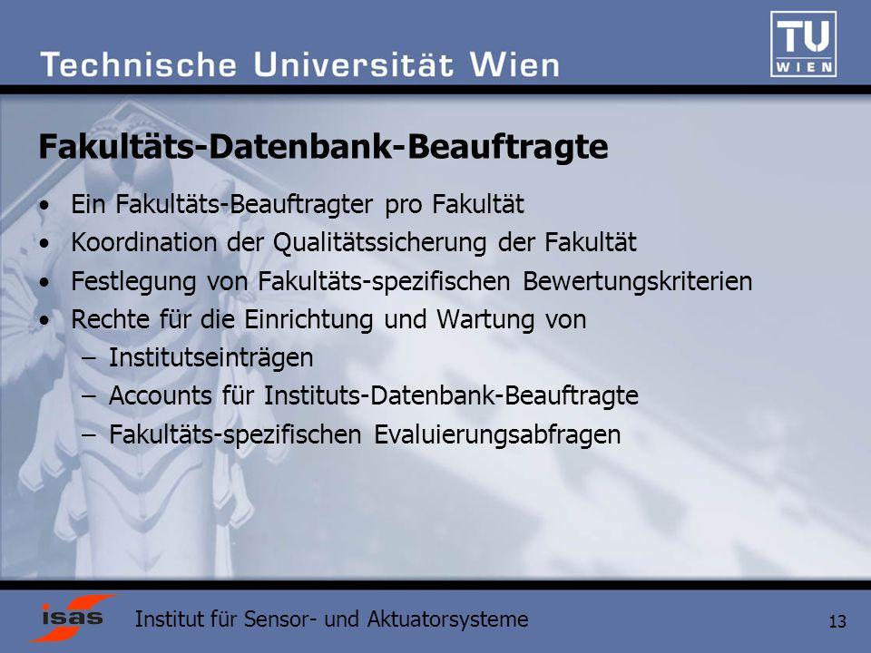 Fakultäts-Datenbank-Beauftragte