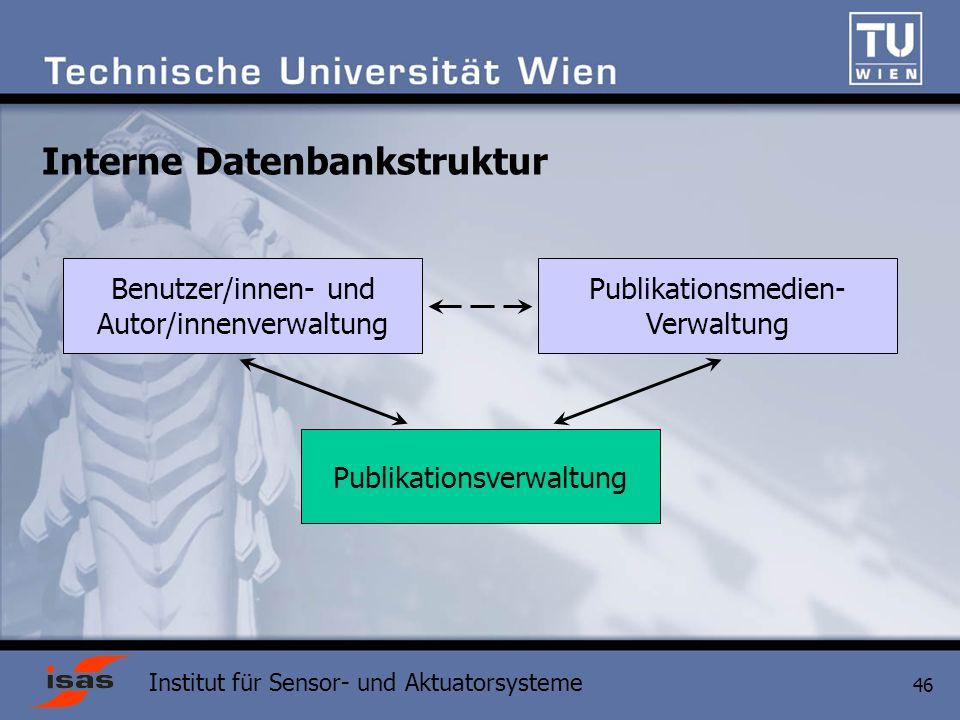 Interne Datenbankstruktur