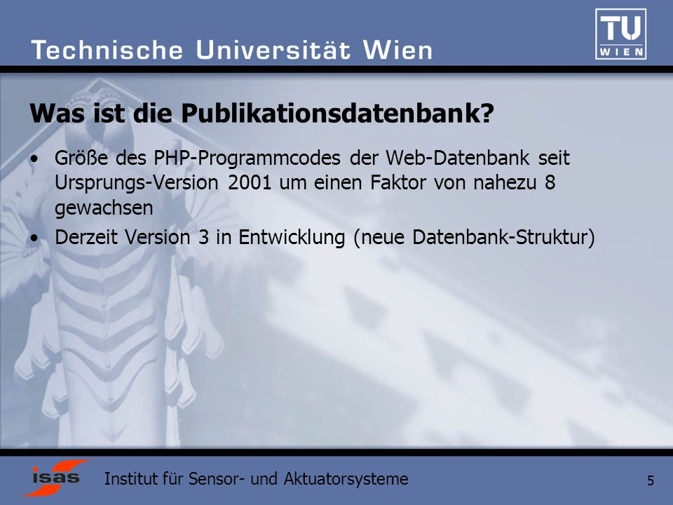 Was ist die Publikationsdatenbank