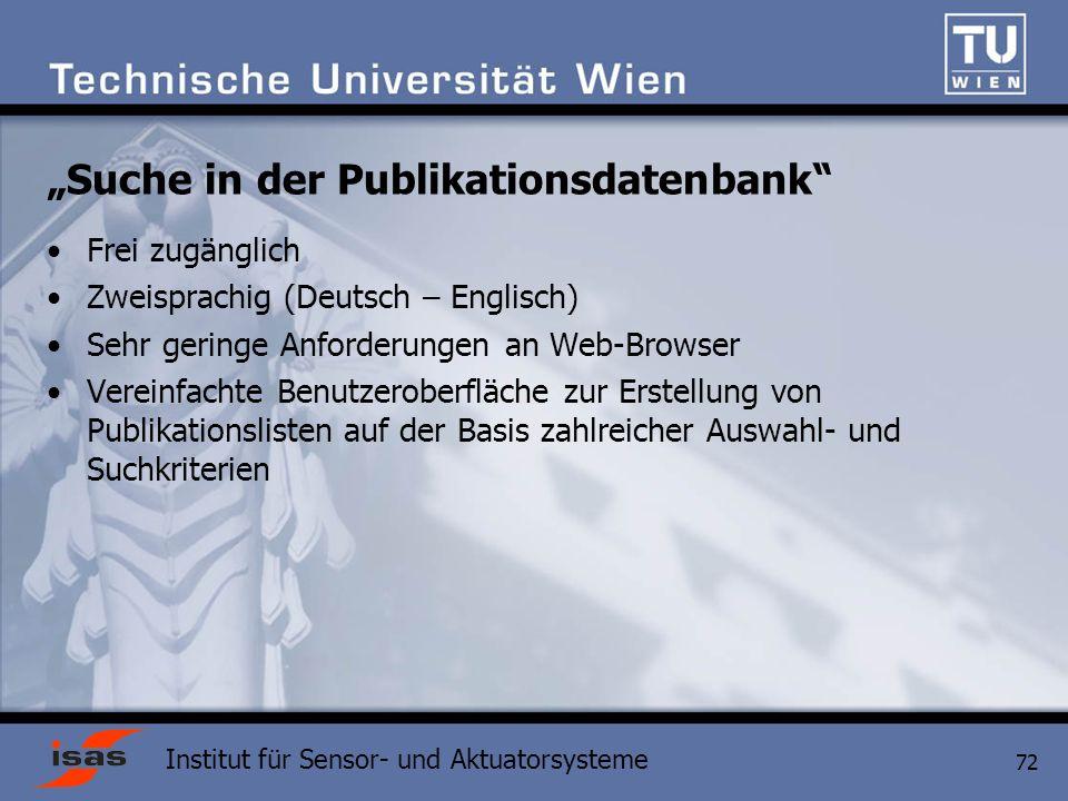 """""""Suche in der Publikationsdatenbank"""