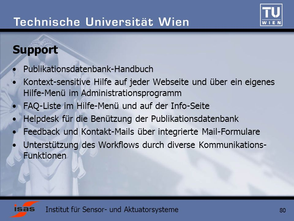 Support Publikationsdatenbank-Handbuch