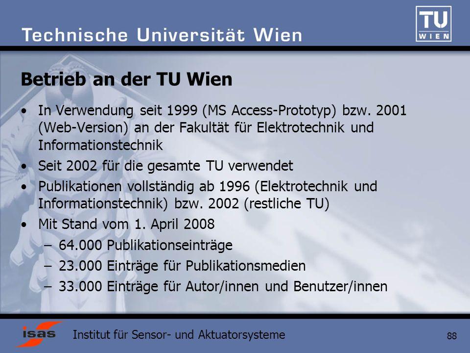 Betrieb an der TU Wien