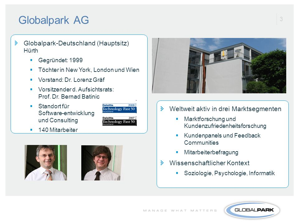 Globalpark AG Globalpark-Deutschland (Hauptsitz) Hürth